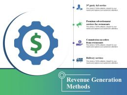 Revenue Generation Methods Ppt Images Gallery