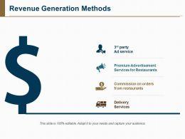 Revenue Generation Methods Ppt Sample Download