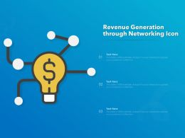 Revenue Generation Through Networking Icon