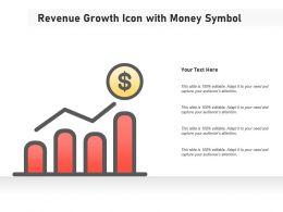 Revenue Growth Icon With Money Symbol