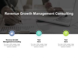 Revenue Growth Management Consulting Ppt Powerpoint Presentation Slide Cpb