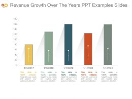 Revenue Growth Over The Years Ppt Examples Slides