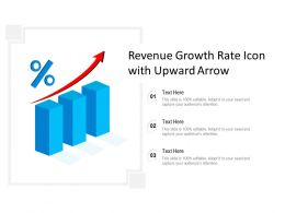 Revenue Growth Rate Icon With Upward Arrow
