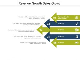 Revenue Growth Sales Growth Ppt Powerpoint Presentation Pictures Gallery Cpb