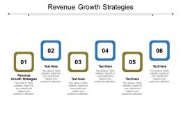 Revenue Growth Strategies Ppt Powerpoint Presentation Outline Objects Cpb