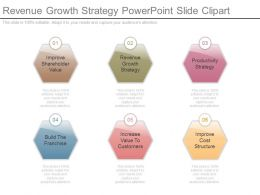 Revenue Growth Strategy Powerpoint Slide Clipart