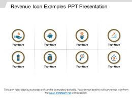 Revenue Icon Examples PPT Presentation
