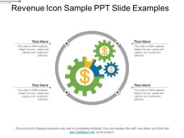 Revenue Icon Sample Ppt Slide Examples