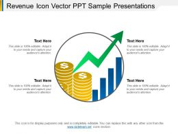 Revenue Icon Vector Ppt Sample Presentations