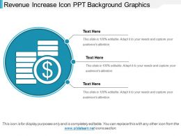 Revenue Increase Icon Ppt Background Graphics