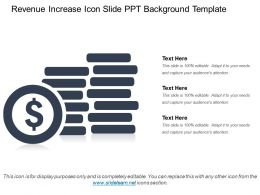 Revenue Increase Icon Slide PPT Background Template