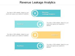 Revenue Leakage Analytics Ppt Powerpoint Presentation Ideas Inspiration Cpb