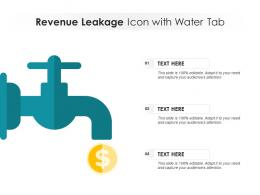 Revenue Leakage Icon With Water Tab