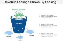 revenue_leakage_shown_by_leaking_bucket_and_dollars_Slide01
