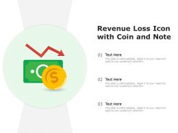 Revenue Loss Icon With Coin And Note
