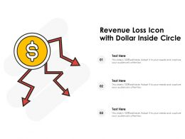 Revenue Loss Icon With Dollar Inside Circle