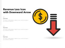 Revenue Loss Icon With Downward Arrow