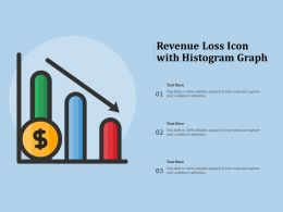 Revenue Loss Icon With Histogram Graph