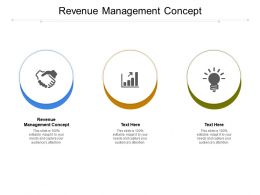 Revenue Management Concept Ppt Powerpoint Presentation Icon Slideshow Cpb