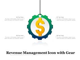 Revenue Management Icon With Gear