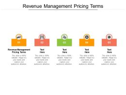 Revenue Management Pricing Terms Ppt Powerpoint Presentation Visual Aids Summary Cpb