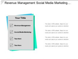 Revenue Management Social Media Marketing Supply Chain Management Cpb