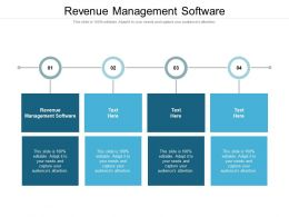 Revenue Management Software Ppt Powerpoint Presentation Ideas Graphics Design Cpb
