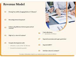Revenue Model Cash Collections Ppt Powerpoint Presentation Background Images