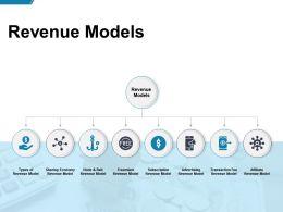 Revenue Models Advertising Ppt Powerpoint Presentation Background