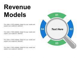Revenue Models Ppt Powerpoint Presentation File Clipart Images Cpb