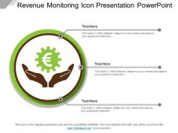 Revenue Monitoring Icon Presentation Powerpoint