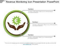 Revenue Monitoring Icon Presentation Powerpoint