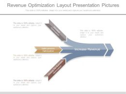 Revenue Optimization Layout Presentation Pictures