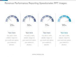 Revenue Performance Reporting Speedometer Ppt Images
