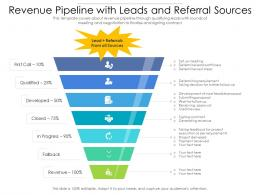 Revenue Pipeline With Leads And Referral Sources