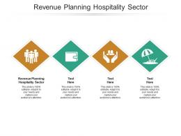Revenue Planning Hospitality Sector Ppt Powerpoint Presentation Portfolio Design Templates Cpb