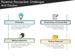 Revenue Recognition Challenges And Solution Powerpoint Layout