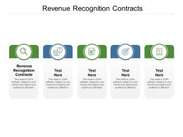 Revenue Recognition Contracts Ppt Powerpoint Presentation Outline Show Cpb