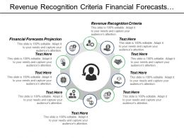Revenue Recognition Criteria Financial Forecasts Projections Predictive Analytics Cpb