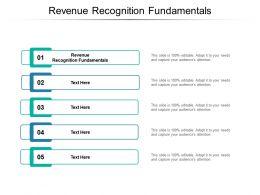 Revenue Recognition Fundamentals Ppt Powerpoint Presentation Show Cpb