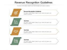 Revenue Recognition Guidelines Ppt Powerpoint Presentation Show Designs Cpb