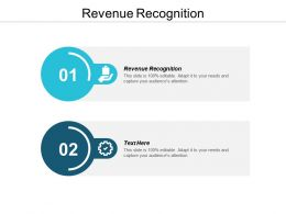 Revenue Recognition Ppt Powerpoint Presentation Infographic Template Layout Cpb