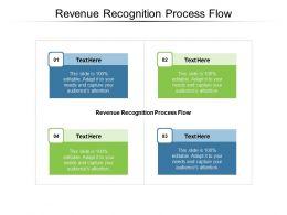 Revenue Recognition Process Flow Ppt Powerpoint Presentation Model Smartart Cpb