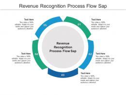 Revenue Recognition Process Flow Sap Ppt Powerpoint Presentation Pictures Clipart Cpb