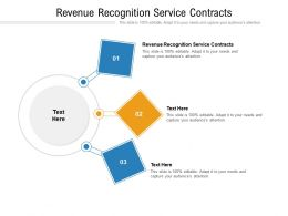 Revenue Recognition Service Contracts Ppt Presentation Infographic Template Gallery Cpb