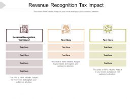 Revenue Recognition Tax Impact Ppt Powerpoint Presentation Inspiration Vector Cpb