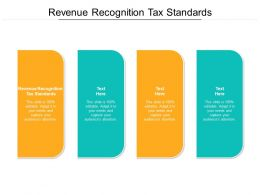 Revenue Recognition Tax Standards Ppt Powerpoint Presentation Gallery Guide Cpb