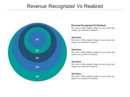 Revenue Recognized Vs Realized Ppt Powerpoint Presentation Layouts Show Cpb