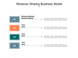 Revenue Sharing Business Model Ppt Powerpoint Presentation Professional Summary Cpb