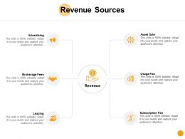 Revenue Sources Opportunity Dollar Ppt Powerpoint Presentation Ideas Graphics